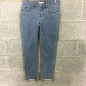 Eileen Fisher Slim Ankle Jeans Size 2P Fray Hem